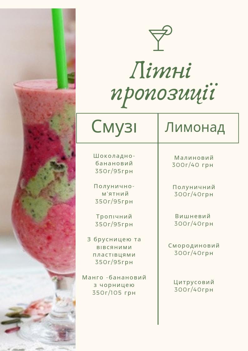 Прохолодні літні напої